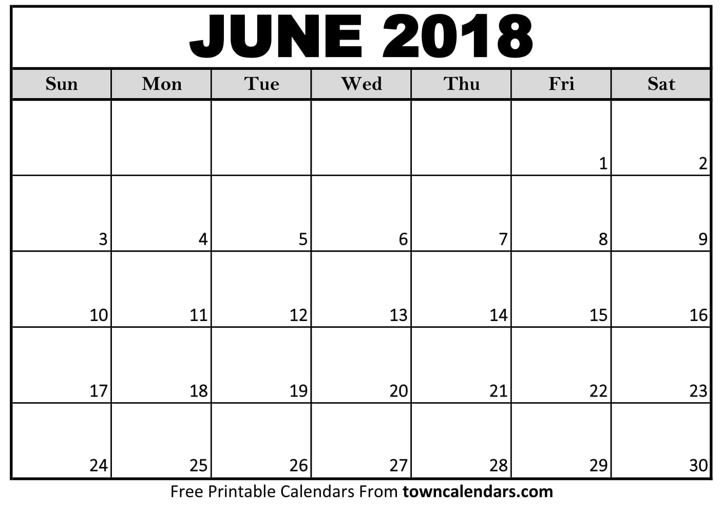 Calendar For June : Free june calendar printable template source